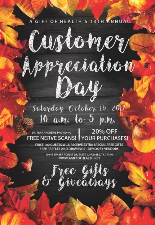 Customer Appreciation 2017